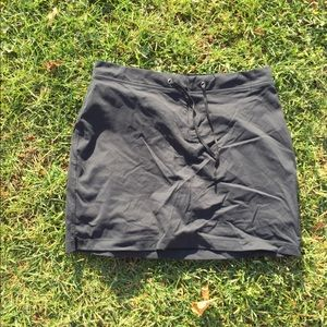 Columbia Black Nylon Hiking Skort Size 12